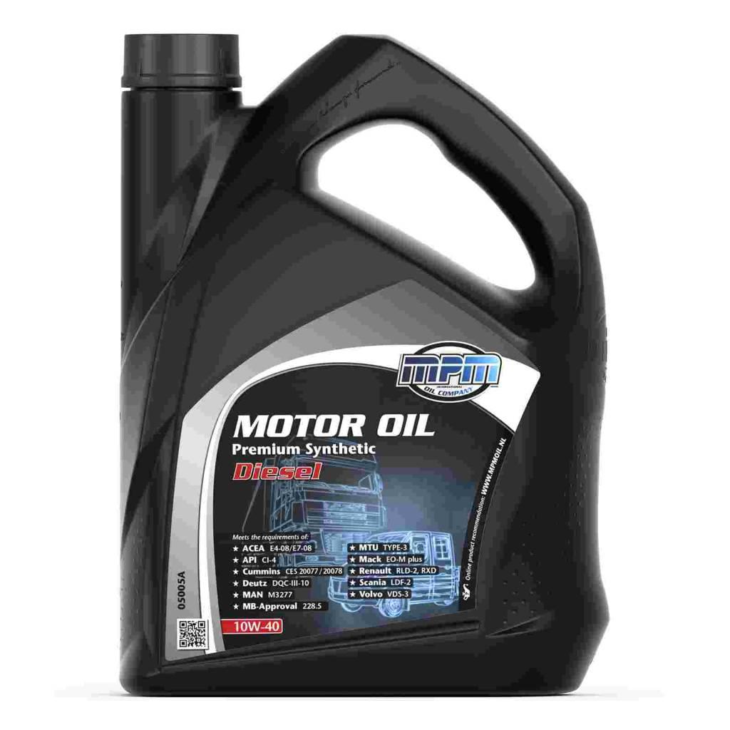 Fantastisk MPM Oil Motorolie 10W-40 Premium synthetisch Diesel - 0800 UG82
