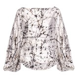 Silk top with print