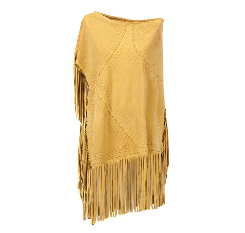 Suede Poncho Yellow