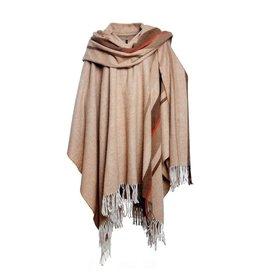Woolen Poncho Beige