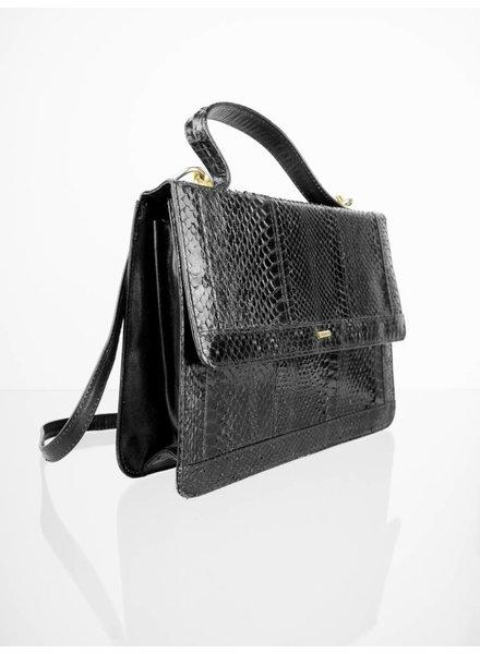 4da4bf5585 Vintage Echtleder Handtasche mit Schultergurt