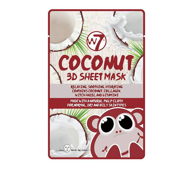 W7 Cosmetics Coconut 3D Sheet Face Mask