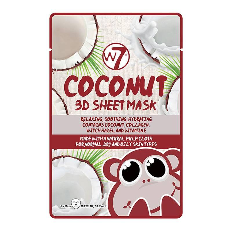 Afbeelding van W7 Cosmetics Coconut 3D Sheet Face Mask