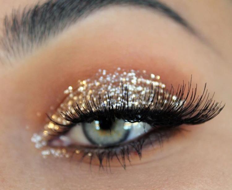 Glitter make-up voor de kerst