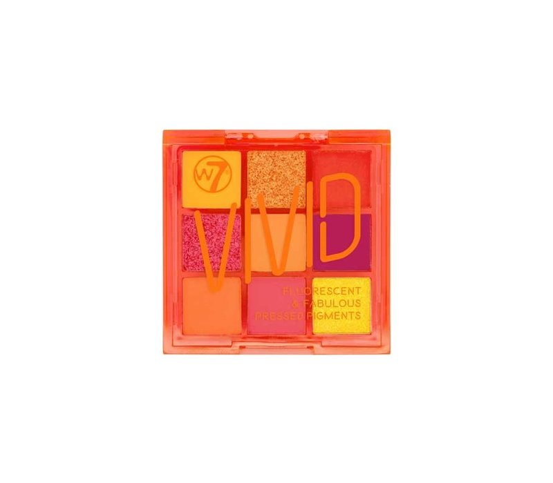 W7 Cosmetics Vivid Pressed Eyeshadow Palette Outrageous Orange