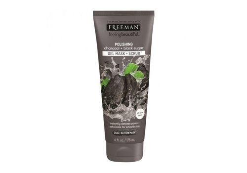 Freeman Gel Mask Scrub Charcoal and Black Sugar