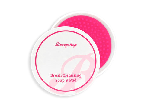 Boozyshop Makeup Brush & Sponge Cleansing Soap & Pad