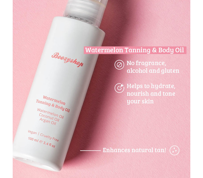 Boozyshop Watermelon Tanning & Body Oil