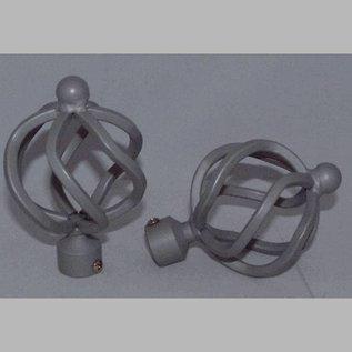 Homecorner  Eindknop Globe Smeedijzer gelakt zilver