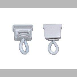 Homecorner  Eindstop + witte kap voor een  u-rail