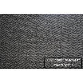 Intensions Kant en klaar Plooigordijn structuur visgraat 180x140 zwart/grijs