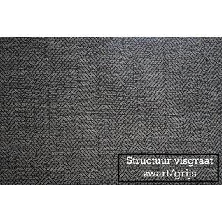 Intensions Kant en klaar Plooigordijn structuur visgraat 180x 140 cm zwart/grijs Intensions