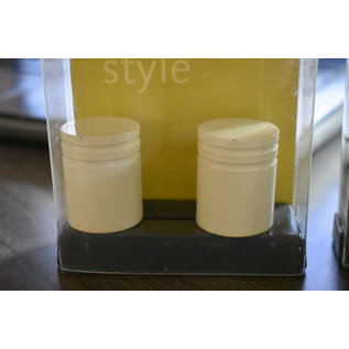 Intensions 2- Eindknoppen cilinder wit chroom antraciet rvs -2