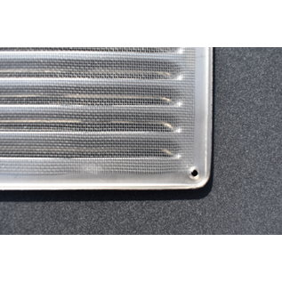 ivcAIR Schoepenrooster met gaas RVS 24,5x19,5cm