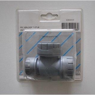Plieger ppi verloop T-stuk 22x22x15 mm kunstof