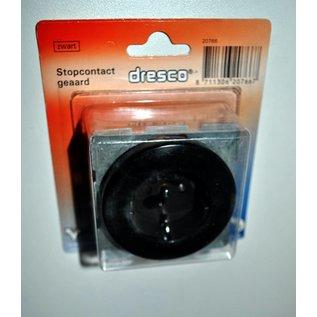 zwart stopcontact geaard