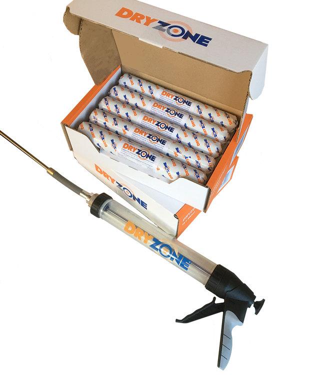 DRYZONE DRYZONE pack 2 dozen met 10 foliecartouches 600 ml + professioneel pistool