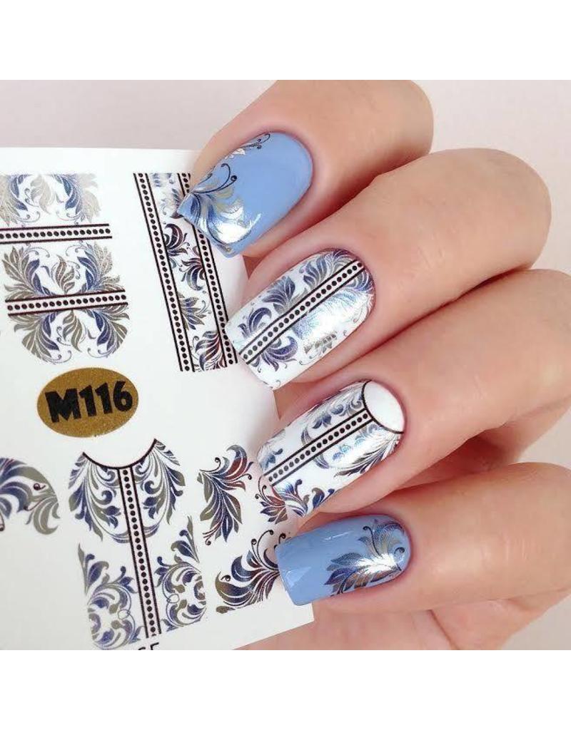 Nail Wraps metallic m116