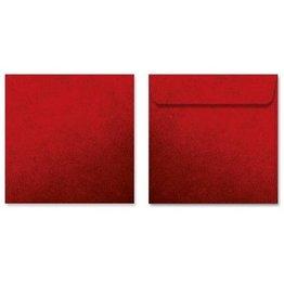 MPK Nails® Kuvert quadratisch, Rot mit Struktur