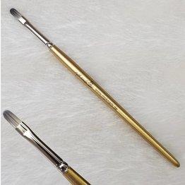 MPK Nails® Gelpinsel Fullcover, Größe 6, Gold-Glitzer mit Logo