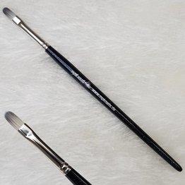 MPK Nails® Gelpinsel Fullcover, Größe 6, Schwarz-Glitzer