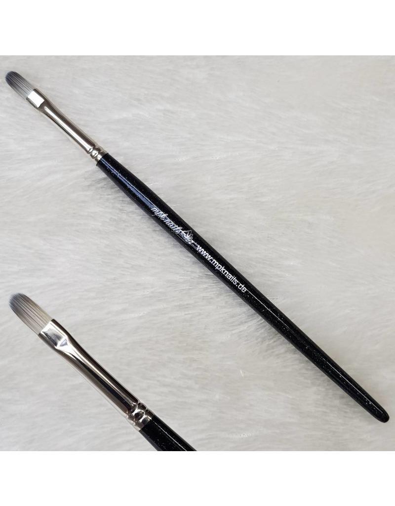 MPK Nails® Gelpinsel Fullcover, Größe 6, Schwarz-Glitzer mit Logo