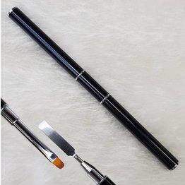 MPK Nails® Pinsel mit Spatel, schwarz