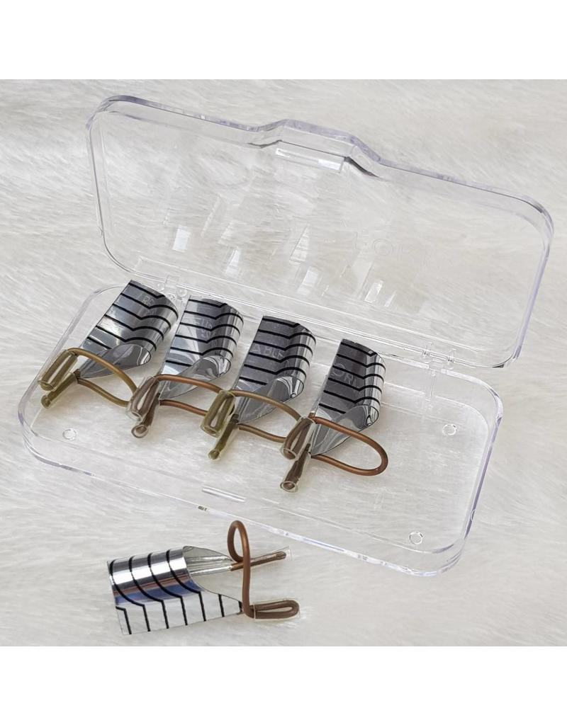 MPK Nails® 5 Modellierschablonen wiederverwendbar, silber