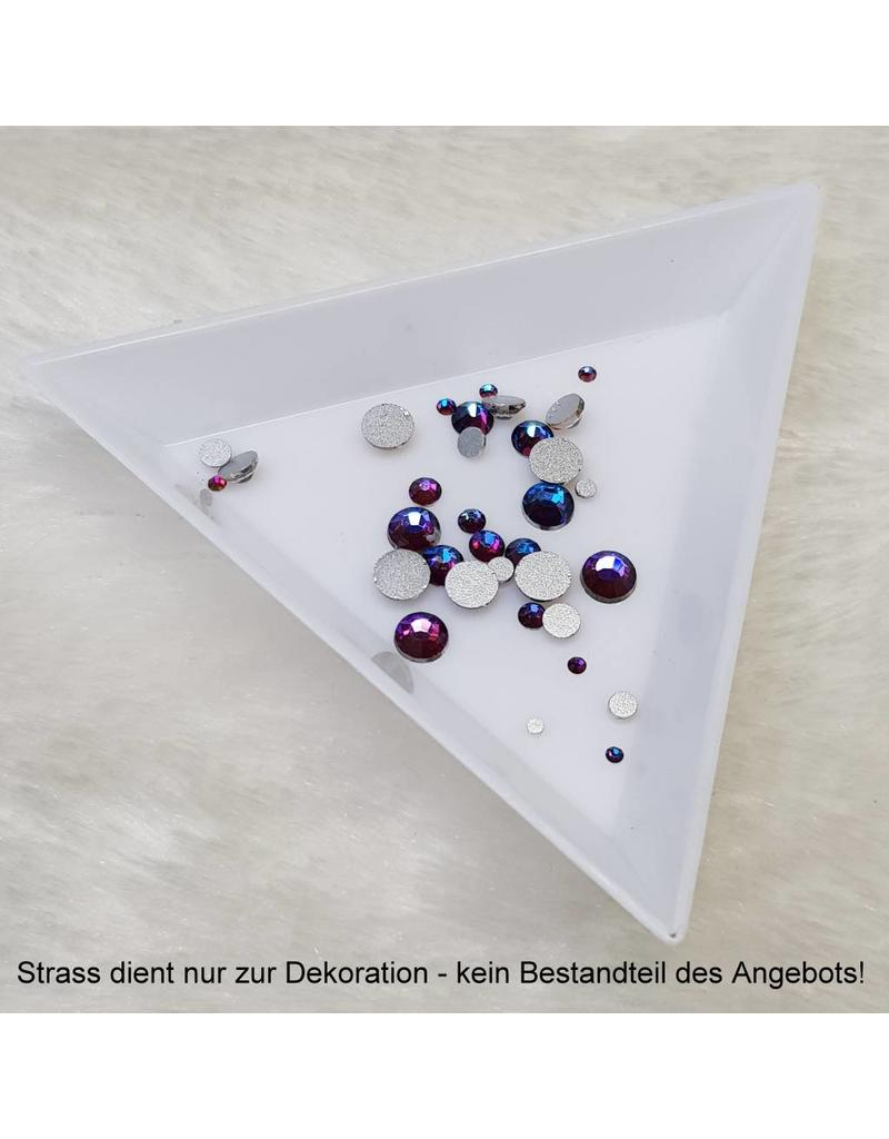 Kunststoffschale für Strass, dreieckig
