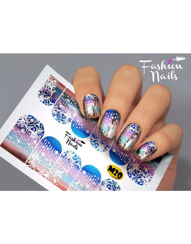 Nail Wraps metallic m20