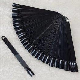 MPK Nails® Nail Art Präsentations Fächer schwarz