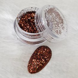 MPK Nails® Holo Glitterstaub Coffee