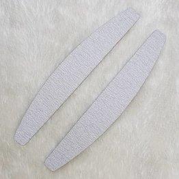 MPK Nails® 25x Profi Feile Zebra Halbmond, pinker Kern