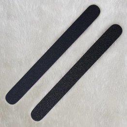 MPK Nails® 25x Profi Feile gerade schwarz, pinker Kern