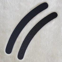 MPK Nails® Profi Feile gebogen schwarz, pinker Kern