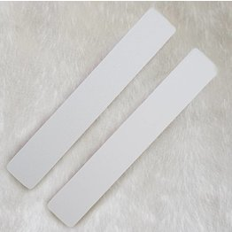 MPK Nails® Profi Feile extra breit weiß, pinker Kern