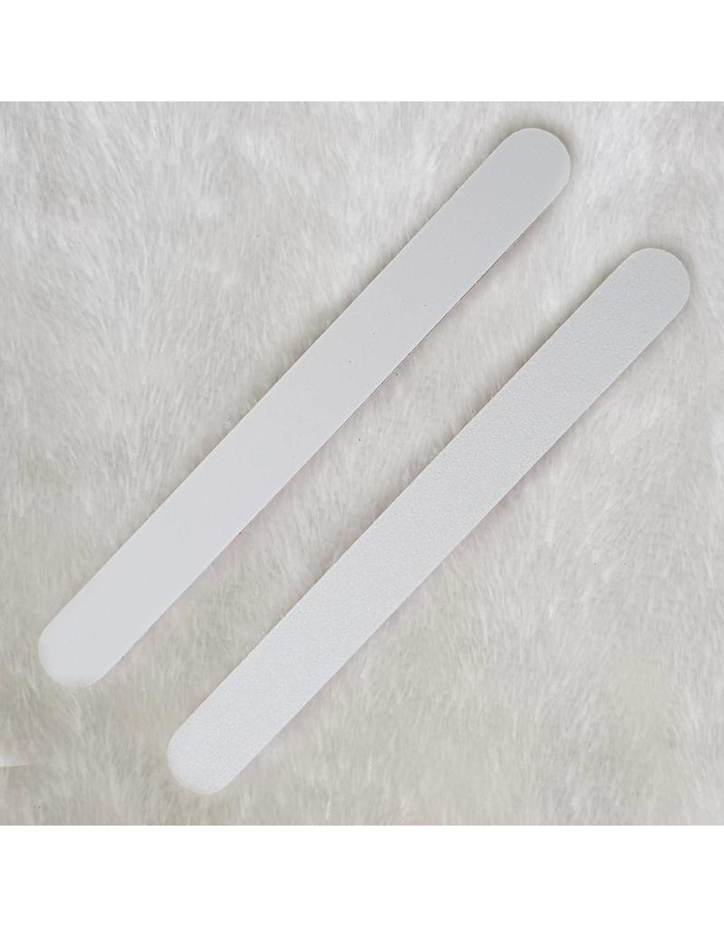 MPK Nails® 25x Profi Feile gerade weiß, pinker Kern