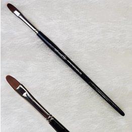 MPK Nails® Modellage-Pinsel oval, Größe 8, Schwarz-Glitzer mit Logo