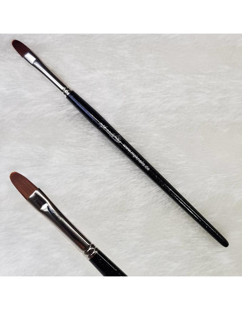 Modellage-Pinsel oval, Größe 8, Schwarz-Glitzer