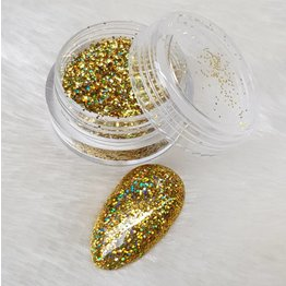 MPK Nails® Holo Glitterstaub Gold