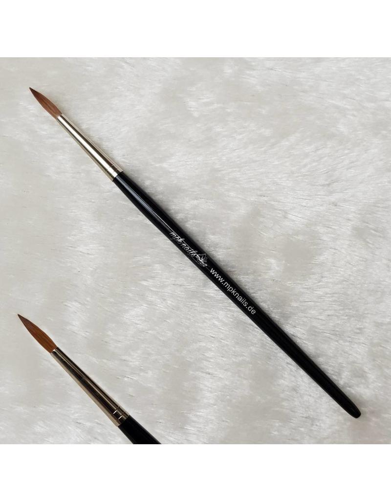 MPK Nails® Acrylpinsel rund Gr. 6, Kolinskyhaar mit Logo