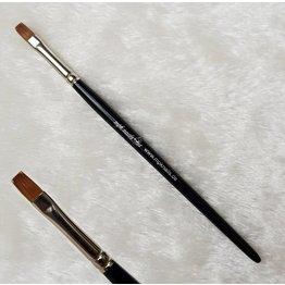 MPK Nails® Gel- und Acrylpinsel flach Gr. 6, Kolinskyhaar mit Logo