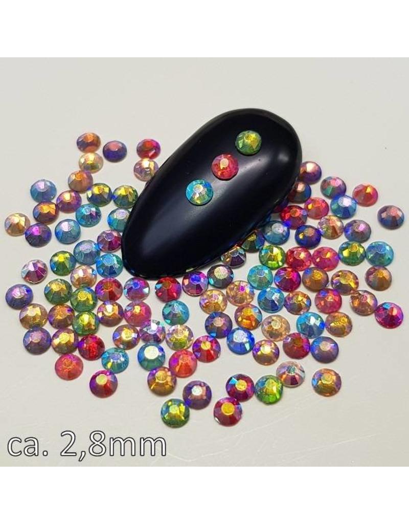 MPK Nails® Luminous Stars Strass 30 Mixed Colors iridescent 2,8mm