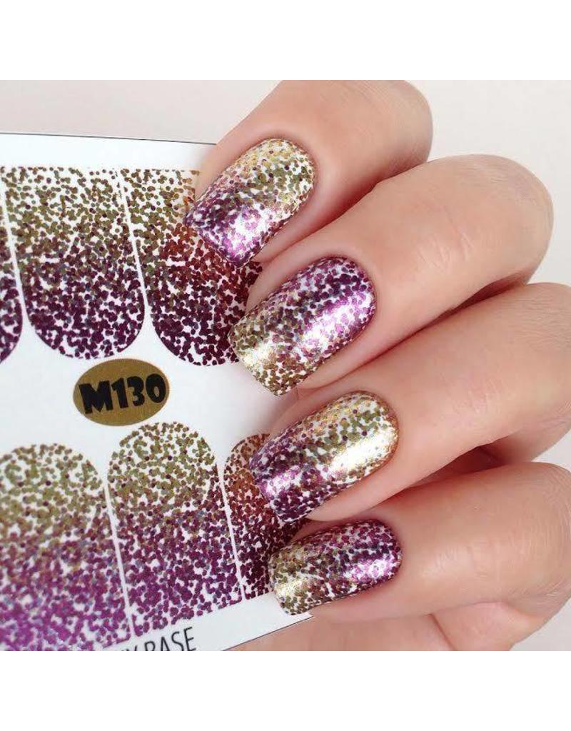 Nail Wraps metallic m130