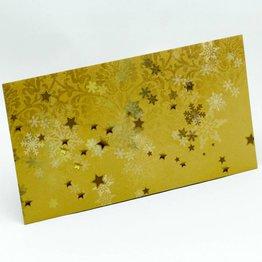 Kuvert lang, Gold mit Struktur