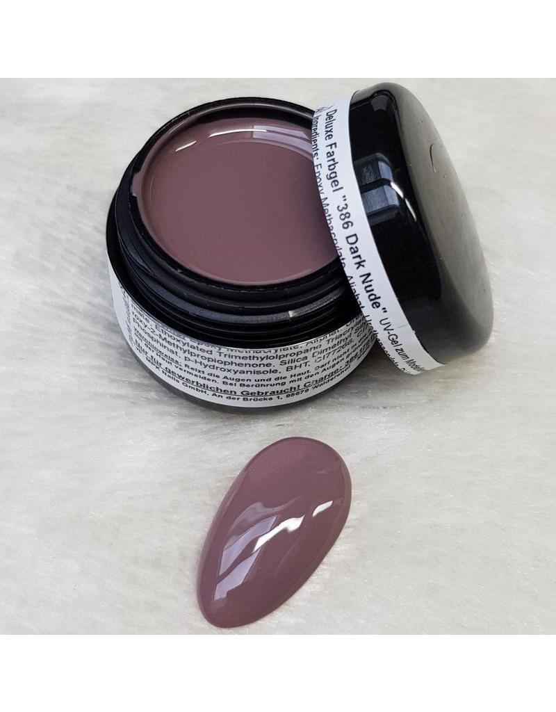 Deluxe Farbgel 386 Dark Nude