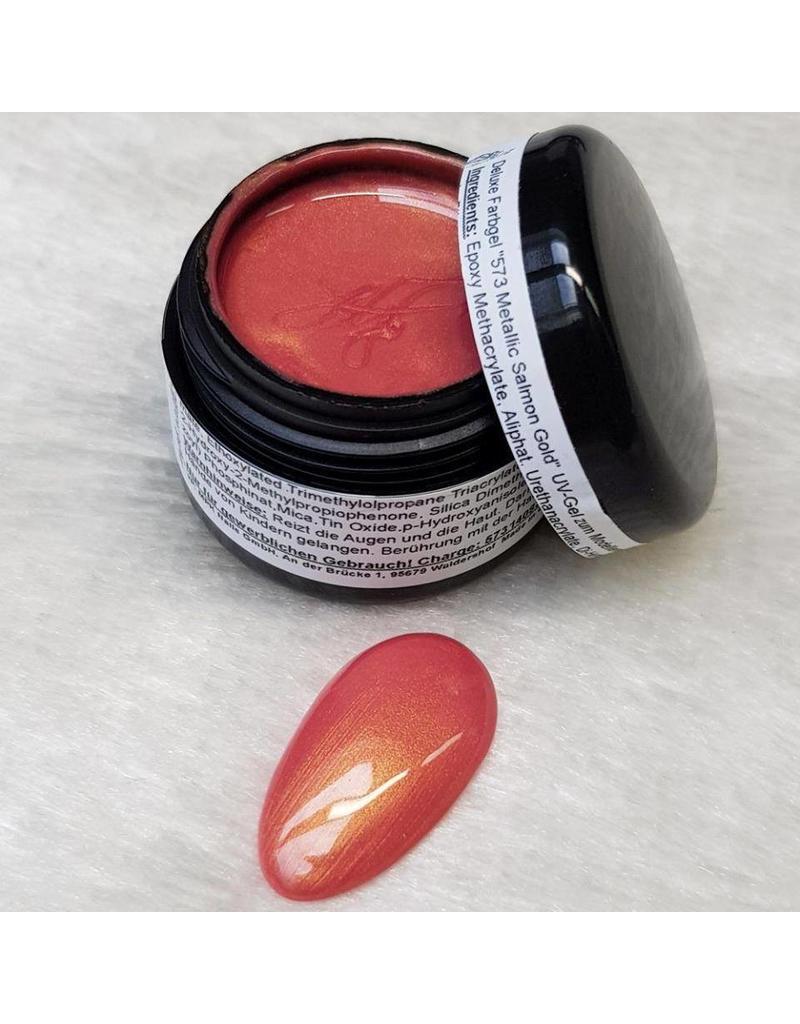 Deluxe Farbgel 573 Metallic Salmon Gold