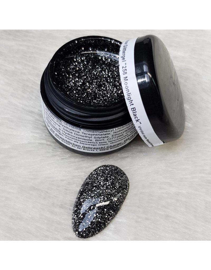 Deluxe Glittergel 258 MOONLIGHT BLACK