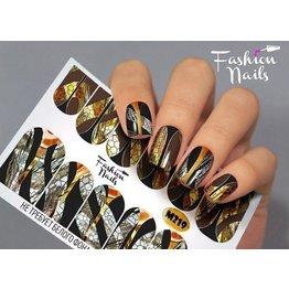 Nail Wraps metallic  m219