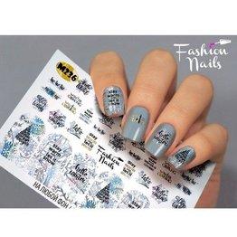 Nail Wraps metallic m236